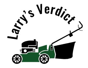 Lawn mower larry logo