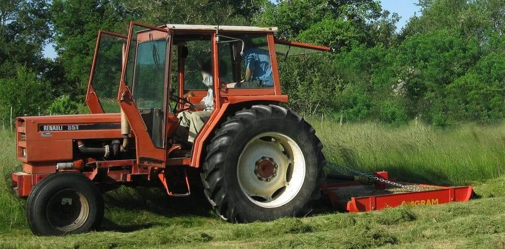 mowing tractor