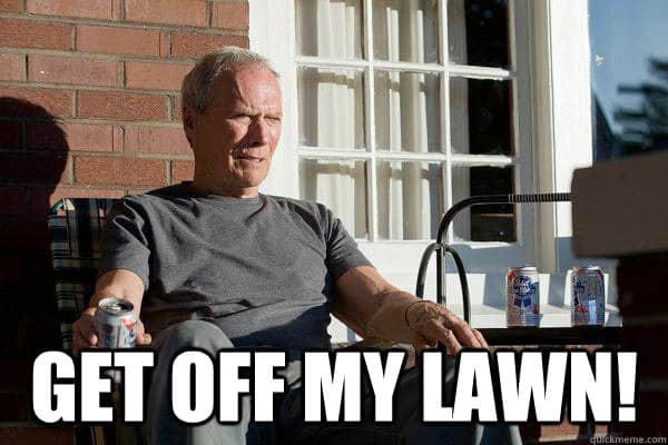get cat of my lawn meme